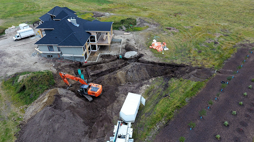 Excavating Services Leduc County Septic Installation We